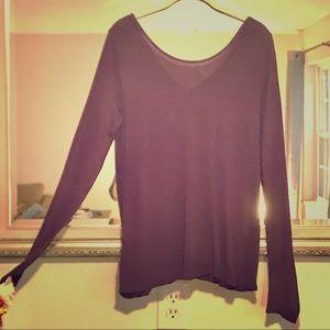 ✨LIKE NEW✨Express Long Sleeved Shirt Purple